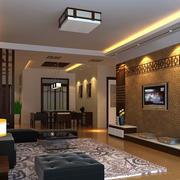 现代创意中式客厅装修