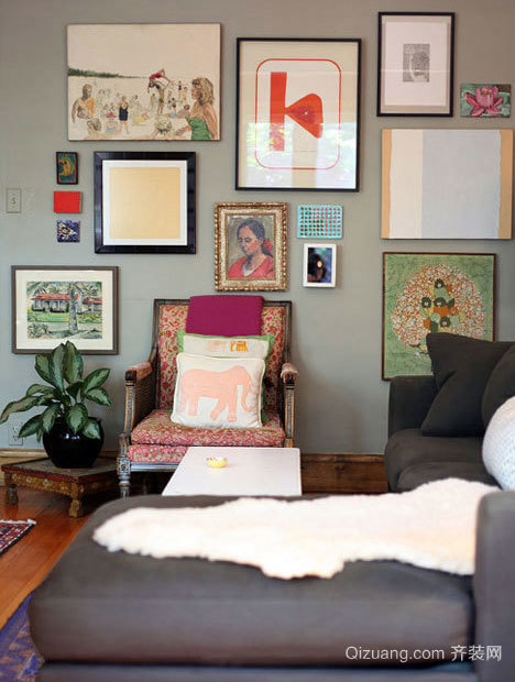 朴素的美式乡村风格三居室家居装修效果图