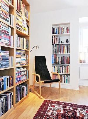 方便阅读 角落里的开放式小书房装修效果图