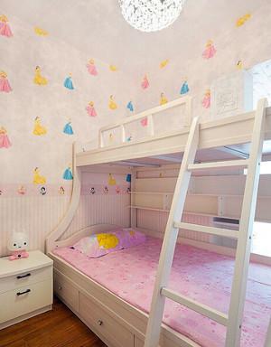 小户型韩式田园风格儿童房设计装修效果图