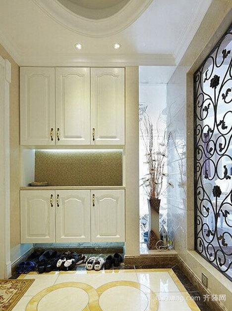 现代简约的入户玄关鞋柜设计装修效果图