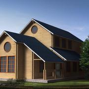 自然风格木质别墅装修