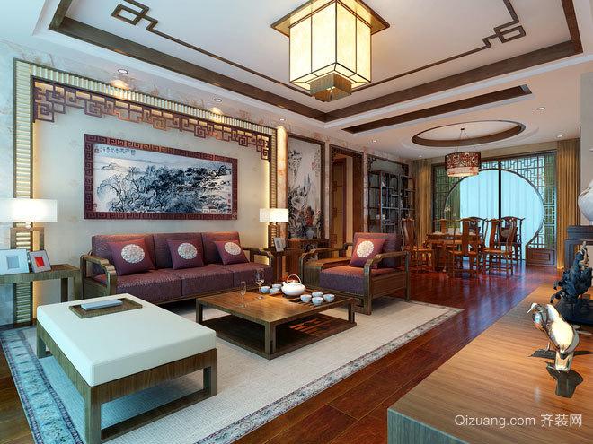 160平米古韵盎然的中式雅致房屋装修效果图