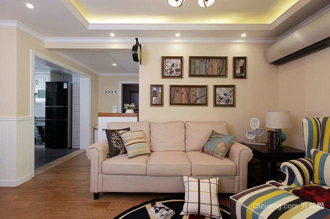 100平米中式动感与柔情相结合的婚房装修效果图