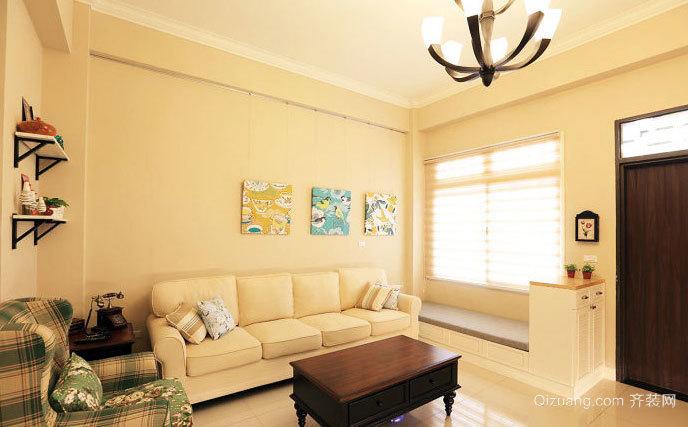 演绎简约大气美式新古典三室一厅家庭装修效果图