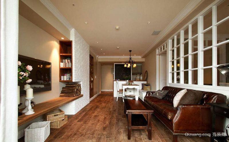 旧房换新装 80平米美式乡村风格两居室老房装修效果图