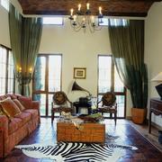 别墅木质地板设计图片