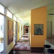 自然风格走廊装修图片