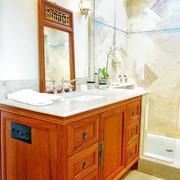 古典韵味浴室柜效果图