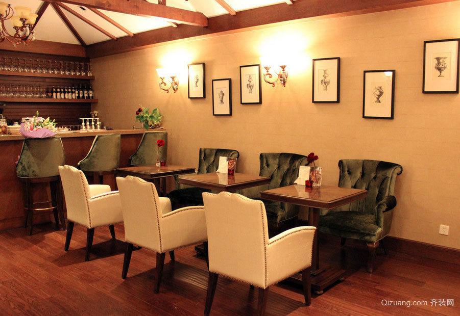 极致华丽 三居室豪华的美式餐厅背景墙装修效果图