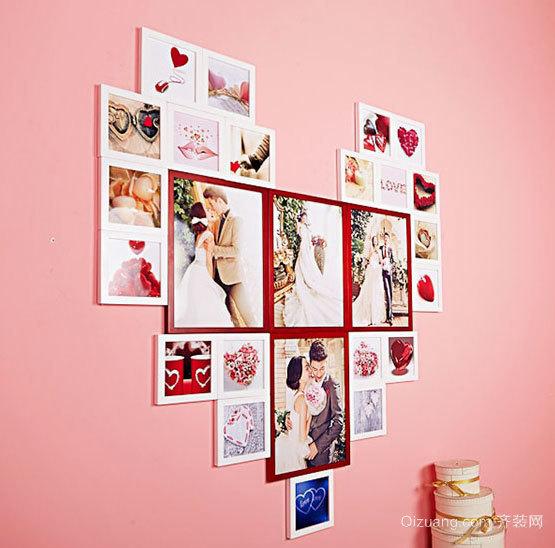 女孩子想要的唯美创意婚房婚纱照片墙装修设计效果图