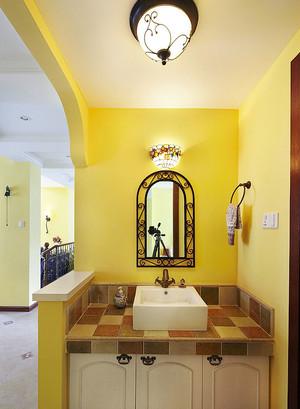 阳光温暖的东南亚风格的卫生间设计装修效果图