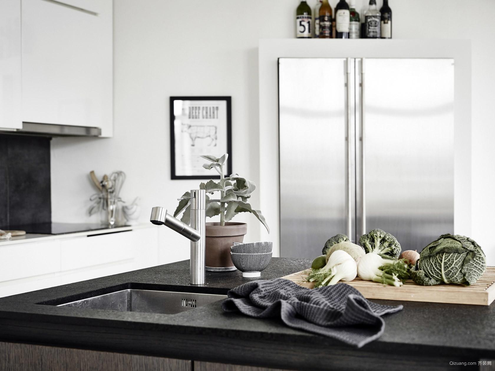 110平小户型公寓室内软装设计效果图