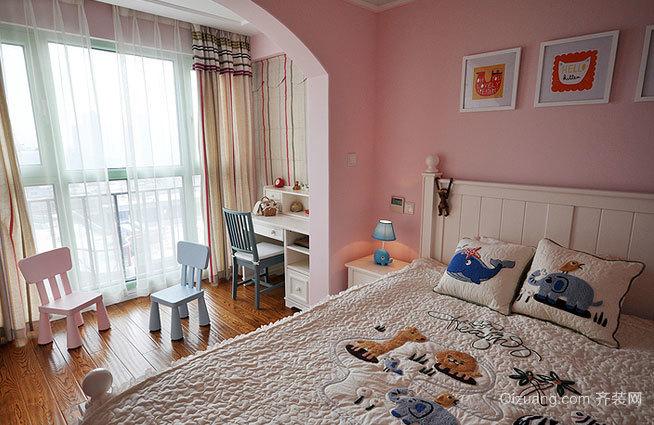 两居室精致大方的都市风格儿童房设计装修效果图