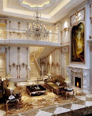 2015法式古典风格的楼梯设计装修效果图大全
