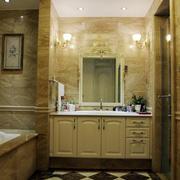 暖色调浴室柜效果图