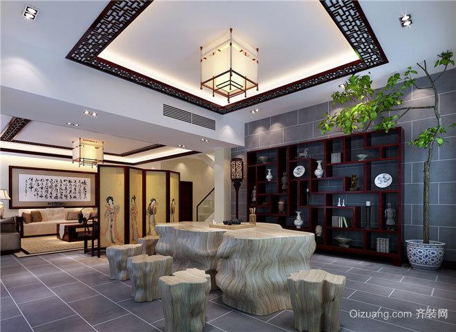 120平米柔美飘逸无限的简欧风格别墅装修效果图
