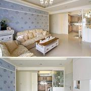田园风格三室一厅装修