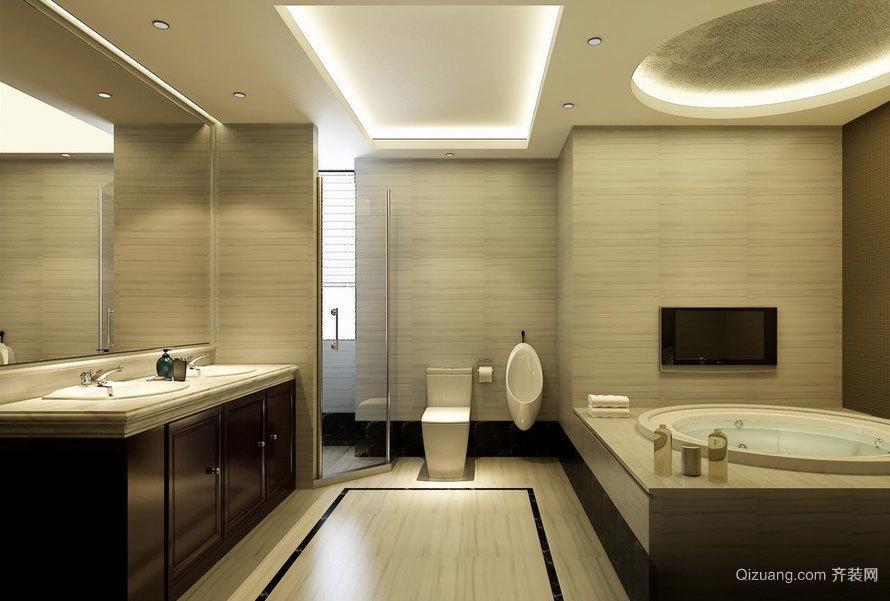 极度精致的欧式小户型卫生间设计效果图大全