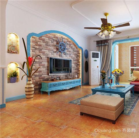 140平米色彩丰富明亮的清新地中海风格房屋装修效果图