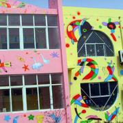 新颖的幼儿园墙体画