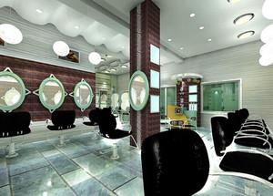 引领新式潮流:都市快节奏美发店装修效果图