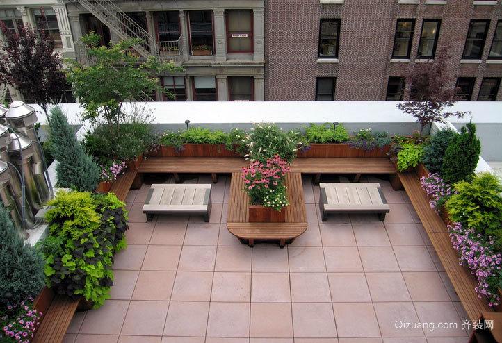 专为自建别墅设计的露台花园设计装修效果图