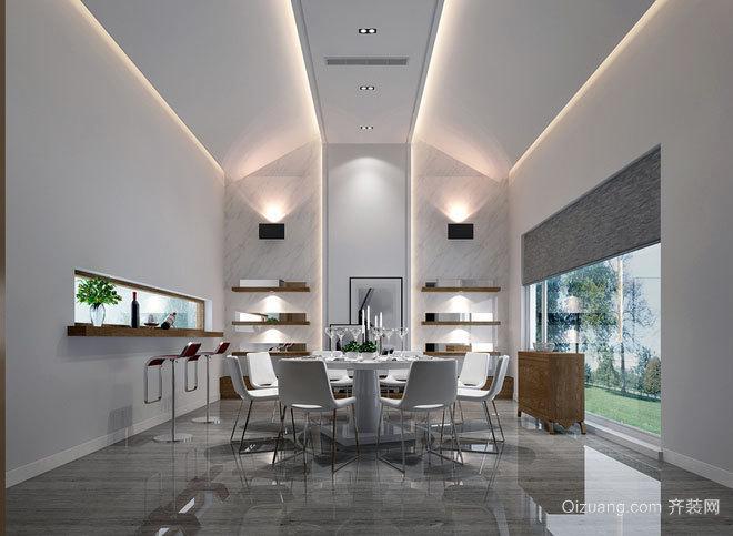 180平米现代造型独栋别墅装修效果图