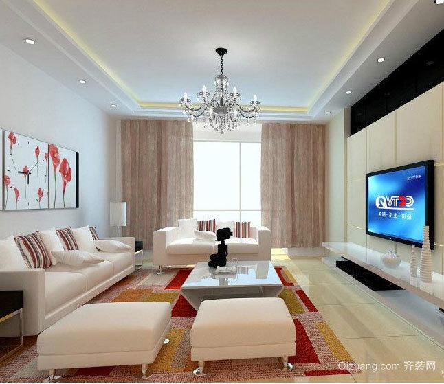 大户型设计精美的欧式客厅地板砖装修效果图大全
