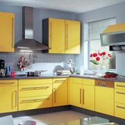 黄色调橱柜装修设计