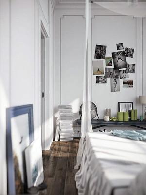 80平米乱中有序十分讲究格调的一室公寓装修效果图
