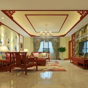 中式客厅地板砖装修