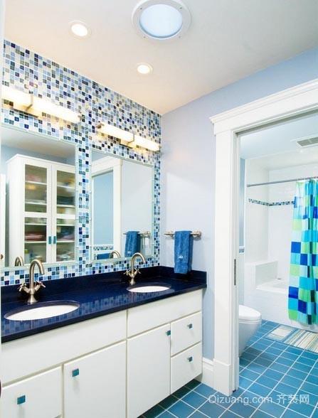 只有长度没有宽度的精美两居室小卫生间装修效果图