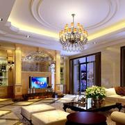 紫色怡情客厅吊顶装修