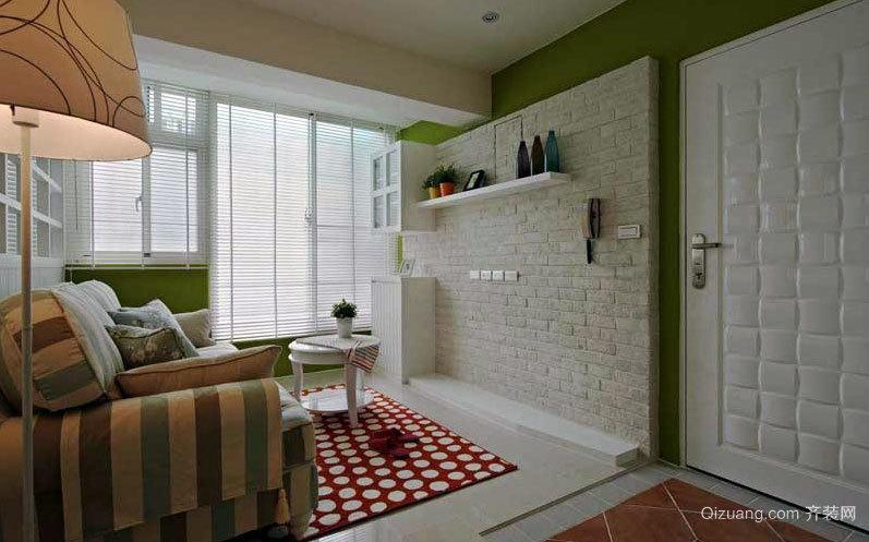 60平米经典乡村温暖女孩子家庭两室一厅装修效果图