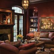 深色调客厅装修图片