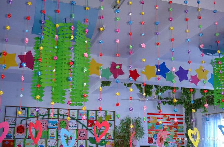2015温馨的幼儿园环境吊饰布置图片
