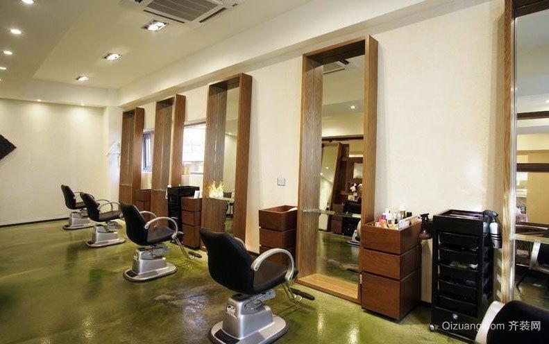 凸显设计感的80㎡新式美发店装修效果图