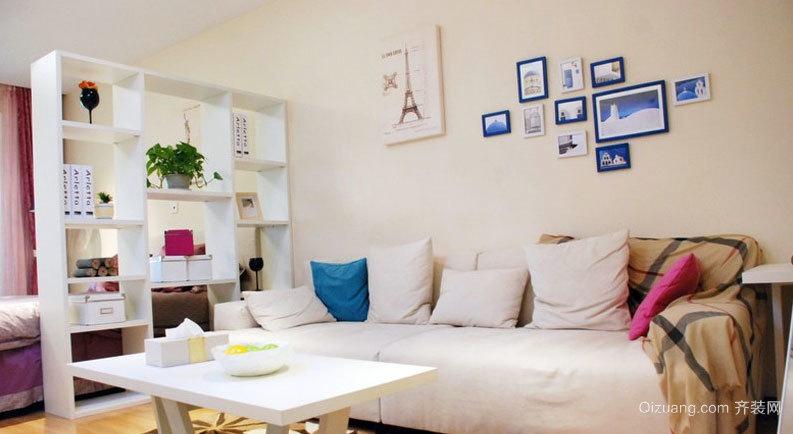 中式风格回归自然单身公寓式住宅装修效果图