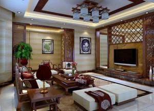 中式客厅茶几装修