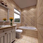 洗手间地板砖设计