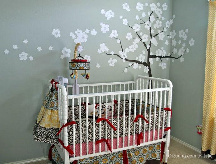 极具鲜活创造力的儿童房手绘背景墙装修效果图