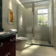 洗手间玻璃隔断设计