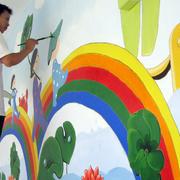 清新型幼儿园墙体画