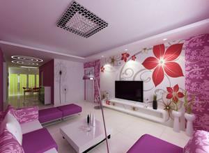 紫色怡情室内装修大全