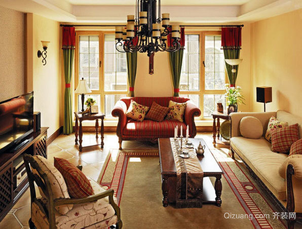 2015自然精致巧妙设计的客厅灯饰装修效果图