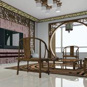 中式客厅拱门装修大全