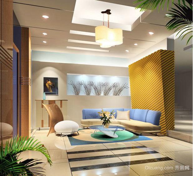时尚唯美 极度奢华的大户型客厅吊顶装修效果图鉴赏