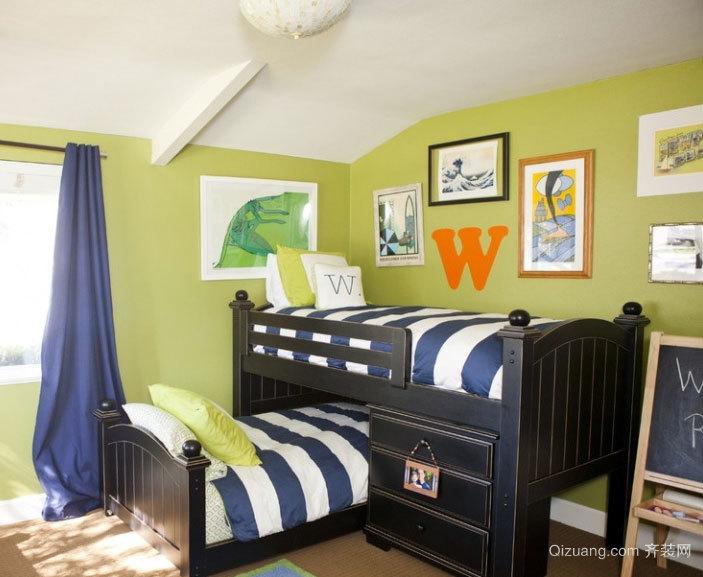 极致完美 舒适充满生机的儿童卧室高低床装修效果图大全