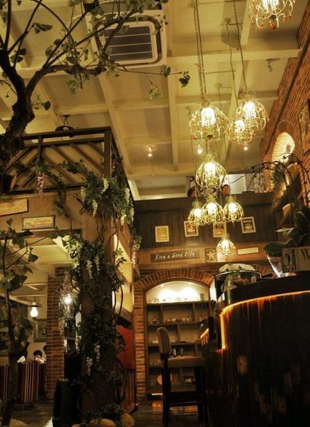时尚 都市 复古怀旧风格 咖啡厅 装修效果图大全